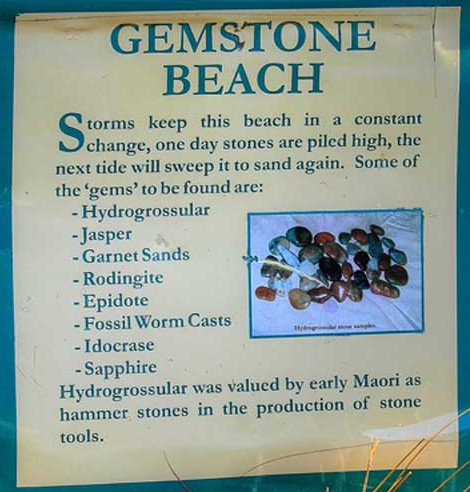 Gemstone Beach located within 10 minutes drive from Tuatapere