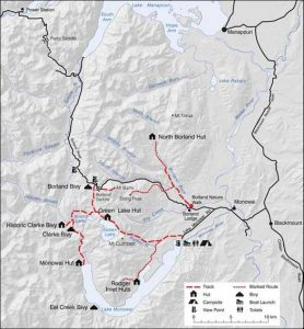 Monowai Borland Map